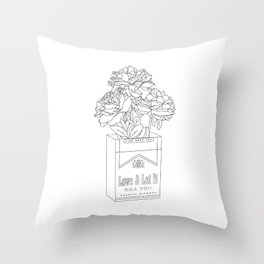 find what you love and let it kill you Throw Pillow