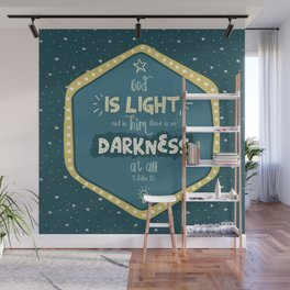 """""""God is Light"""" Hand-Lettered Bible Verse Wall Mural"""