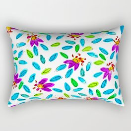 Whimsical - Floral - Watercolor - Pattern Rectangular Pillow