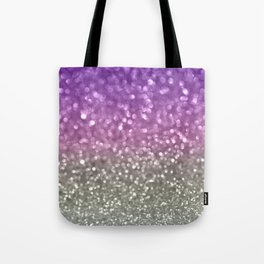 Lilac and Gray Tote Bag