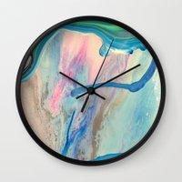 nirvana Wall Clocks featuring Nirvana Sky by LANELLA TELLO