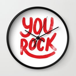 You Rock Vintage Red Wall Clock