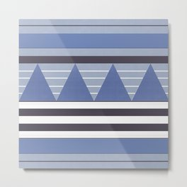 Patchy Stormy Blues Metal Print