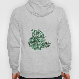 32. Artistic Green Henna Flower with Mehndi Hoody
