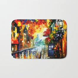 Starry Tardis Night Bath Mat