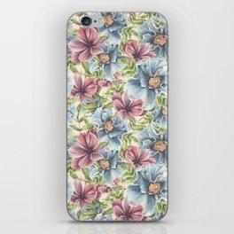 Hibiscus Vintage Pattern iPhone Skin