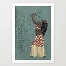 Belly dancer 1 Art Print