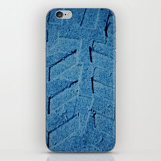 Deep Blue Sand Tire mark iPhone & iPod Skin
