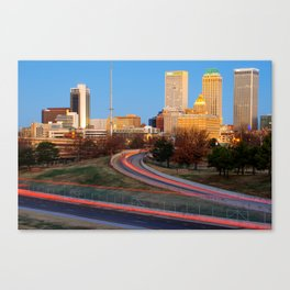 Downtown Tulsa Skyline from South Peoria Canvas Print