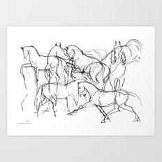 Horses (Movement) Art Print