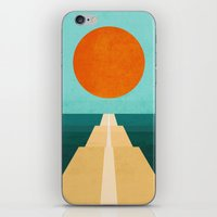 road iPhone & iPod Skins featuring The Road Less Traveled by Picomodi