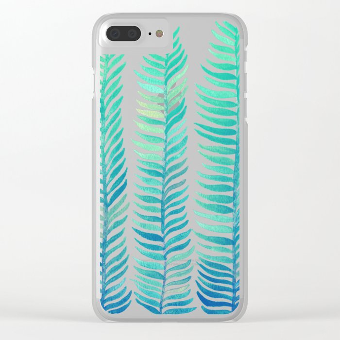 Seafoam Seaweed Clear iPhone Case