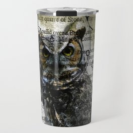 Nature Series Wise Owl By Moon Willow Designs Travel Mug