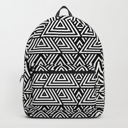 Triangle Pattern Black And White Backpack