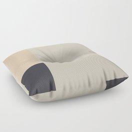 Minimal Abstract Beige Floor Pillow