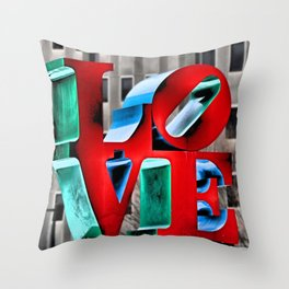 Love from Philly Throw Pillow