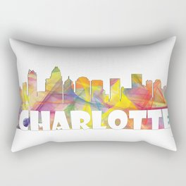 Charlotte, North Carolina Skyline MCLR 2 Rectangular Pillow