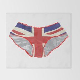 Union Jack Knickers Throw Blanket