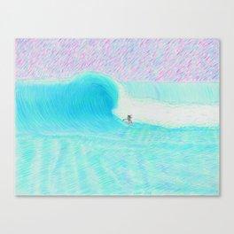 SURF GUITAR no. 1   WATER COLOR Canvas Print