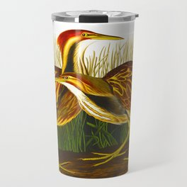 American Bittern Audubon Birds Vintage Scientific Hand Drawn Illustration Travel Mug