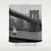dumbo Shower Curtains featuring dumbo by Gray