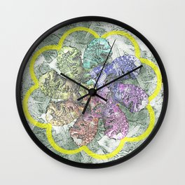 Lion in the Lotus Wall Clock