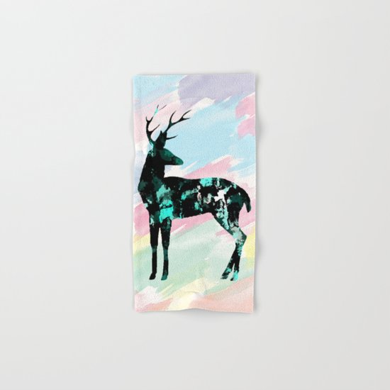 Abstract Deer Hand & Bath Towel
