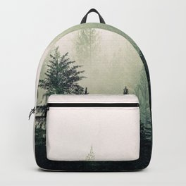 Foggy Pine Trees Backpack