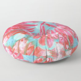Blue Water Hibiscus Snowfall Floor Pillow