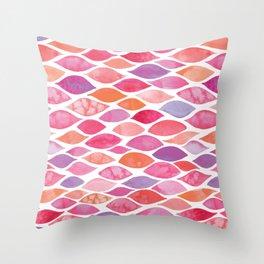 Watercolour Ocean | Sunset Palette Throw Pillow