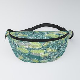 Leaves with black and white outlines 2 Fanny Pack