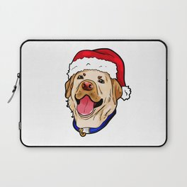 Labrador Retriever Dog Christmas Hat Present Laptop Sleeve