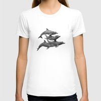 dolphins T-shirts featuring Dolphins by Beckyliv