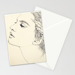 Leda with swan feathers Stationery Cards