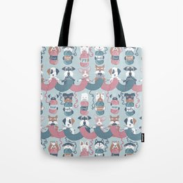 Knitting dog feelings I Tote Bag