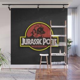 Jurassic Pork Wall Mural