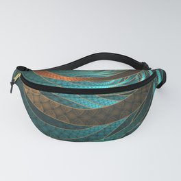 Beautiful Corded Leather Turquoise Fractal Bangles Fanny Pack