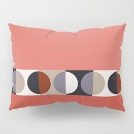 malevich moon || tomato pink Pillow Sham