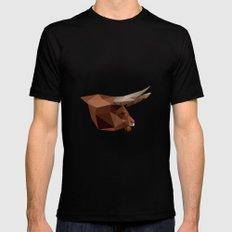 Bull #1 MEDIUM Mens Fitted Tee Black