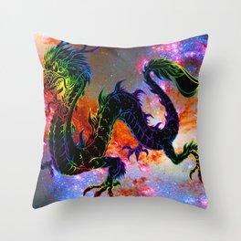 Space Dragon Throw Pillow