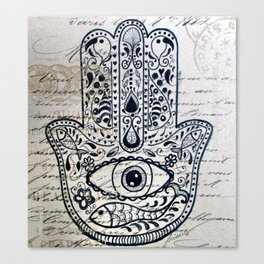Hamsa Evil Eye for Protection Canvas Print