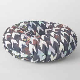 Seashell forest - Geometric repeat pattern Floor Pillow