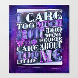 Quote Design (Silver Version) Canvas Print