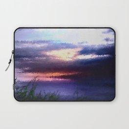 Coastal landscape and sunset. Laptop Sleeve