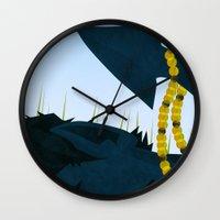 nightcrawler Wall Clocks featuring Wagner's Tail by modHero