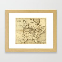Great Lakes Map - 1737 Framed Art Print