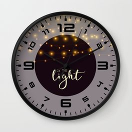 Be the light #2 Wall Clock