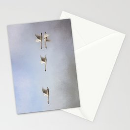 Three Up, One Down Stationery Cards