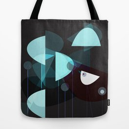 Abstract White Birds Tote Bag