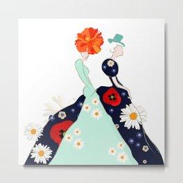 Abstract sketch model (girl), Metal Print